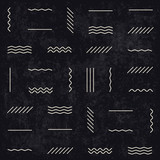Geometric lines seamless pattern on dark textured background. Re