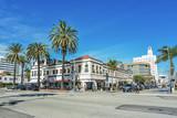Fototapety サンタモニカの市街地風景