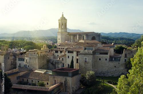 Zdjęcia na płótnie, fototapety, obrazy : Cathedral of Girona. Evening landscape. Catalonia, Spain