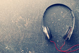vintage shot of headphones