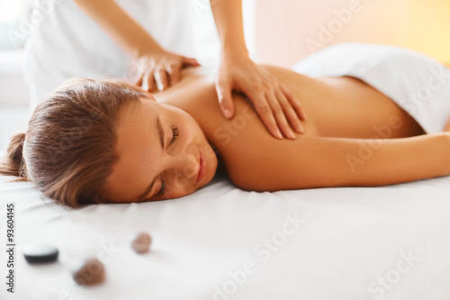 Body care. Spa body massage treatment.
