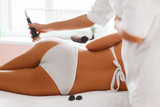 Body care. Ultrasound cavitation body contouring treatment. Anti cellulite poster