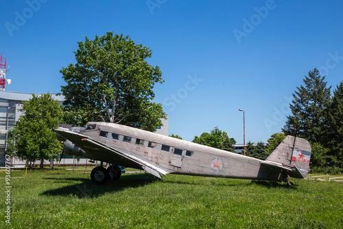 Poster old plane ju b2
