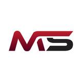 Modern Initial Logo MS