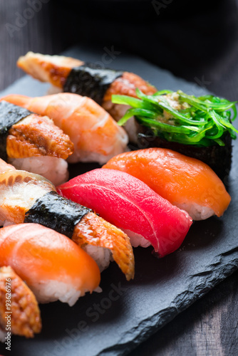 Poster Various kinds of sushi