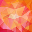 abstract background consisting of yellow, orange, pink triangles