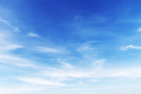 Fototapeta Na sufit - Fantastic soft white clouds against blue sky background © phatthanit