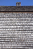 wood shingles on barn siding and roof with cupola; Green Gables barn, Cavendish, Prince Edward Island, Canada poster