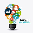 Digital marketing design.