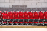 shopping cart in a row