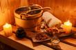 Leinwandbild Motiv Wellness und Spa in der Sauna