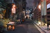 Fototapety 東京神楽坂の料亭街の夜景