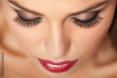 Juliste Makeup and artificial eyelashes