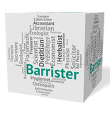 Barrister Job Indicates Advocates Counselors And Counselor poster