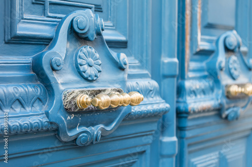 PARIS, FRANCE, on AUGUST 28, 2015. Architectural details of typical buildings. Beautiful doors Photo by Elena Belyaeva