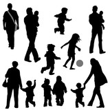 family children life silhouettes