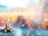 Fototapety Abstract blur Christmas background