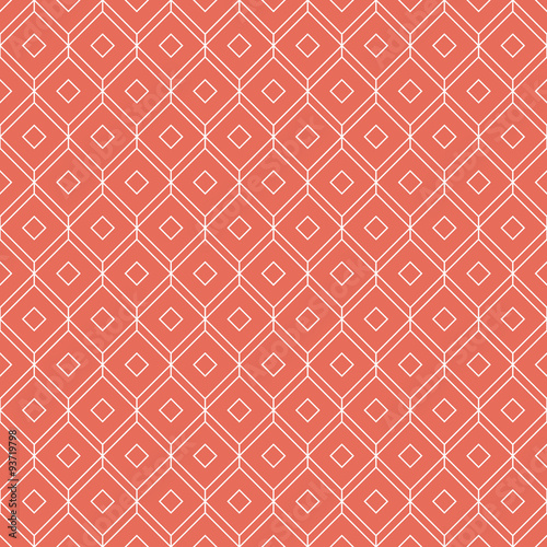 coral pink isometric grid background