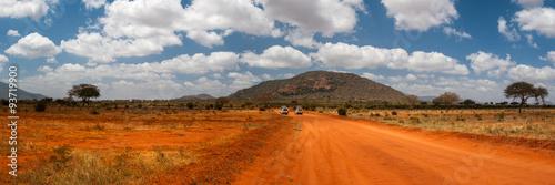 Papiers peints Orange eclat Landscape of Tsavo East, Kenya