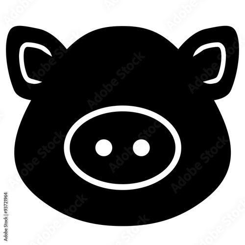 Gamesageddon Abstrakter Schweinekopf Von Vorne Schwarz Weiß
