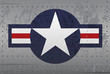 US Military National Aircraft Insignia Distressed Illustration