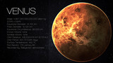 Fototapety Venus - High resolution Infographic presents one of the solar