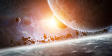 Sunrise over planet Earth in space - Fine Art prints