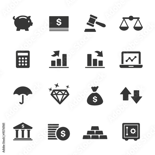 Finance Icons, Mono Series