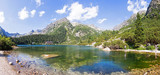 Panoramic view of Popradske Pleso, Tatra mountains, Slovakia