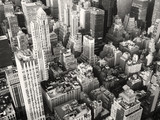 Fototapety Black and white view of midtown New York City
