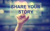 Hand pressing Share Your Story - 93797735