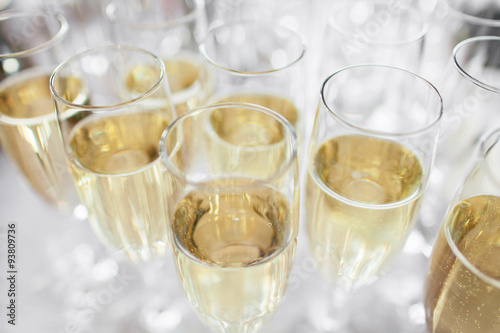 Poster glasses with champagne