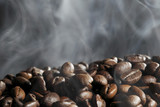 Fototapety Hot roasted coffee beans