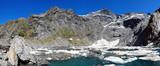 Crucible Lake in Mount Aspiring national park, New Zealand poster
