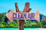 Clean Air arrow with beach background