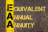 Business Acronym EAA as EQUIVALENT ANNUAL ANNUITY poster