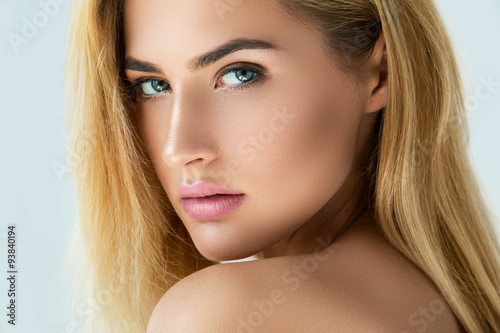 Poster Portrait of beautiful blonde girl