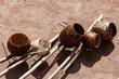 Постер, плакат: Бразильские музыкальные инструменты беримбау