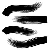 Fototapety Vector black brush strokes
