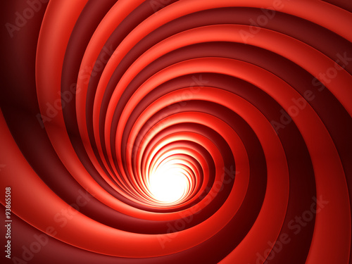 3d Red Abstract Vortex