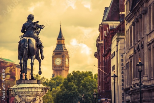 Poster London Charles I Statue