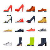 Fototapety footwear for all occasions. shoes, sneakers, boots