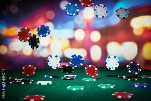 Plakat Poker chips