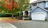 Early autumn with modern residential single family home - Fine Art prints