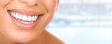 Fototapety Beautiful woman teeth.