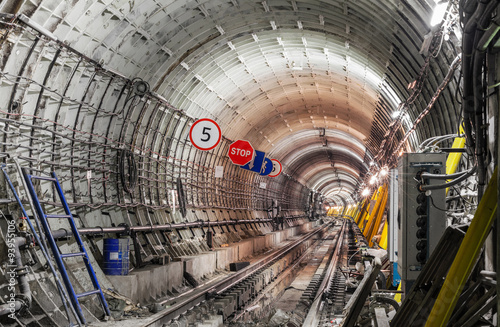 Fototapety, obrazy : The construction of the subway tunnel