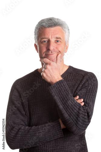 Poster older gray-haired man