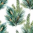Obrazy na płótnie, fototapety, zdjęcia, fotoobrazy drukowane : Vector watercolor christmas tree pattern