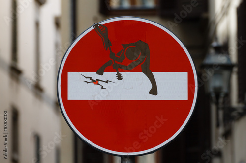 fototapeta na ścianę No entry sign