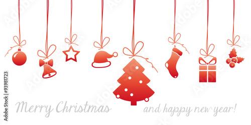 Naklejka christmas card graphic elements #set11
